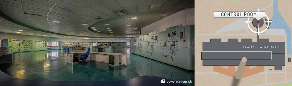 Fawley Power Station Control Room