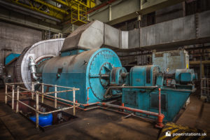 One of the four gas turbines