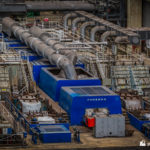 Looking over Parsons turbine-generator set