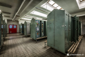 Lockers in the bathhouse