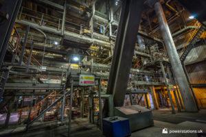 Gantries around the boilers