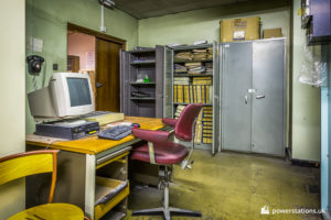 Office to one side of the control room