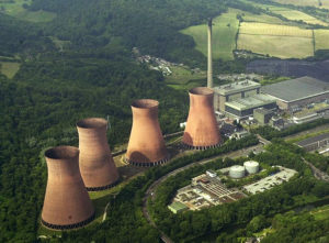 Aerial image of Ironbridge's Cooling Towers