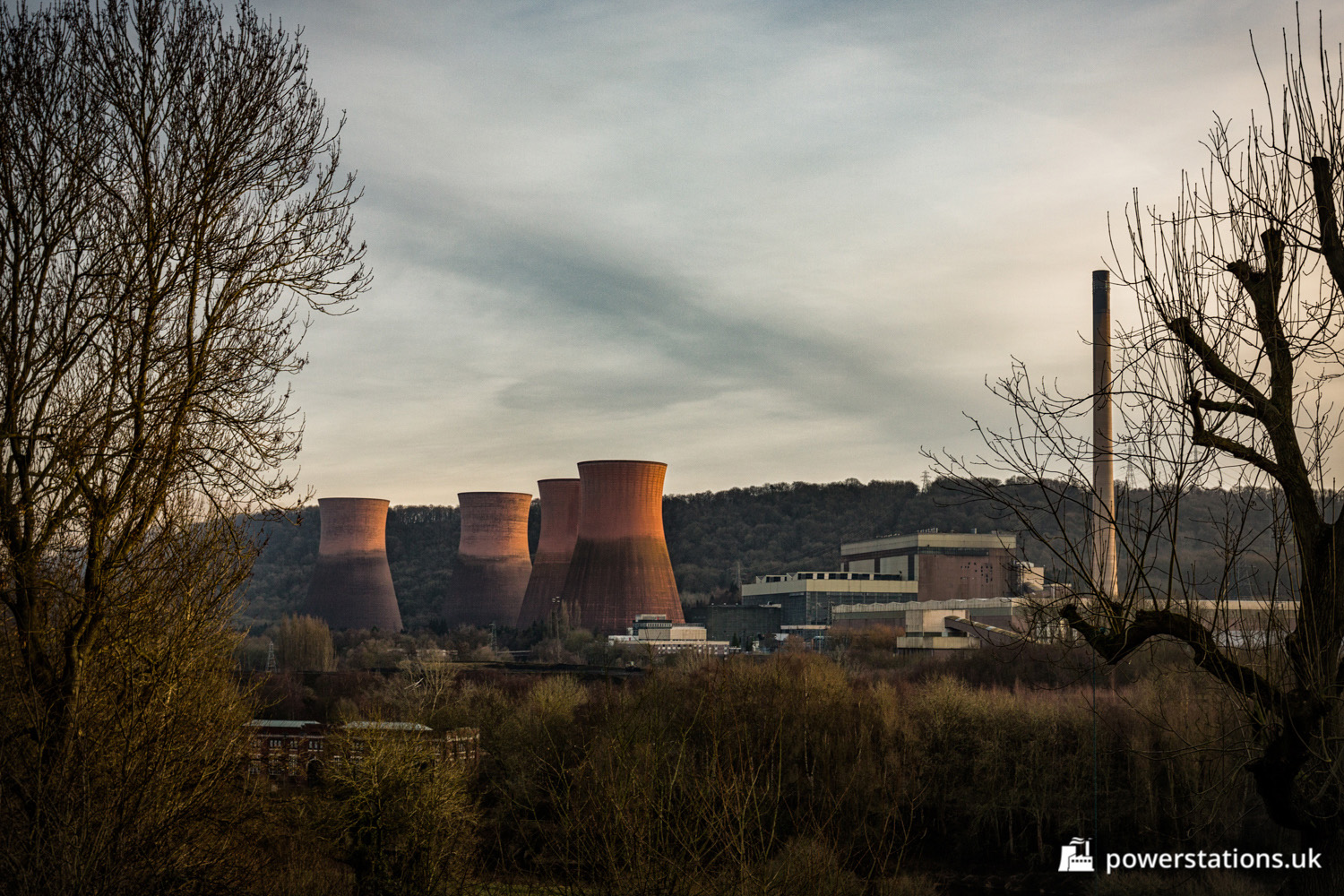 Ironbridge B Power Station Shropshire Stations Of The Uk Plant Layout Fire Red In Landscape