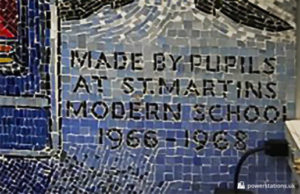 Mosaic - Made by pupils at St. Martins Modern School 1966-1968