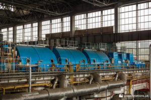 The three low pressure turbines of unit two