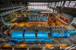 Overview of the turbine hall