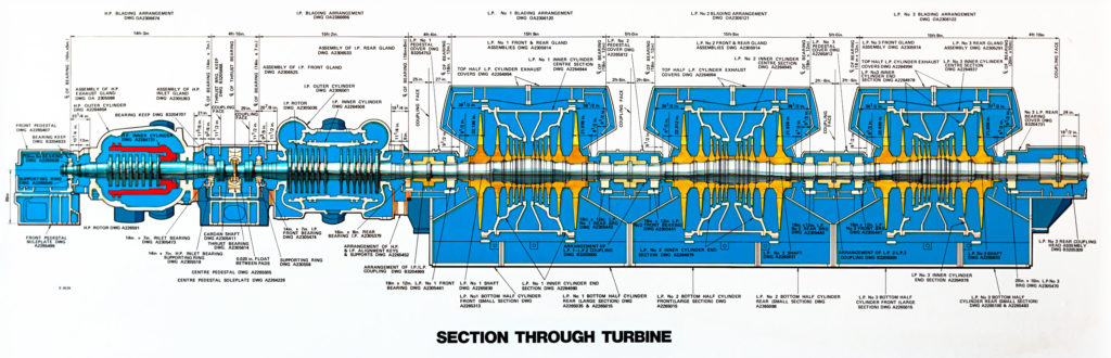 Section Through Turbine - On display in the admin offices