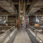 Walkways in the boiler house