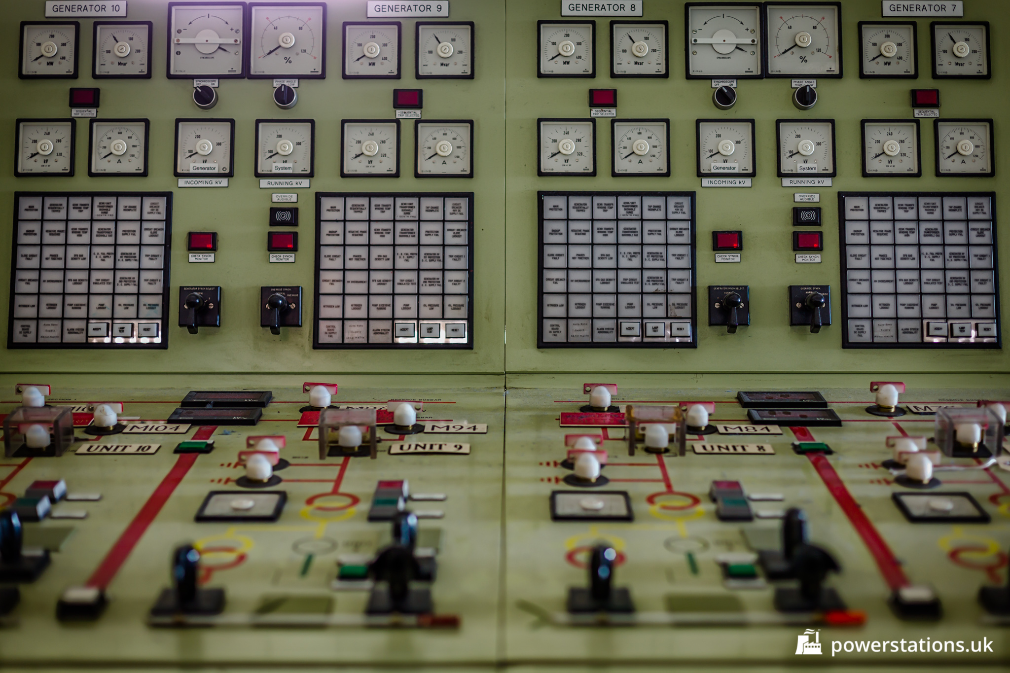 Tilbury B Power Station Control Room Power Stations Of