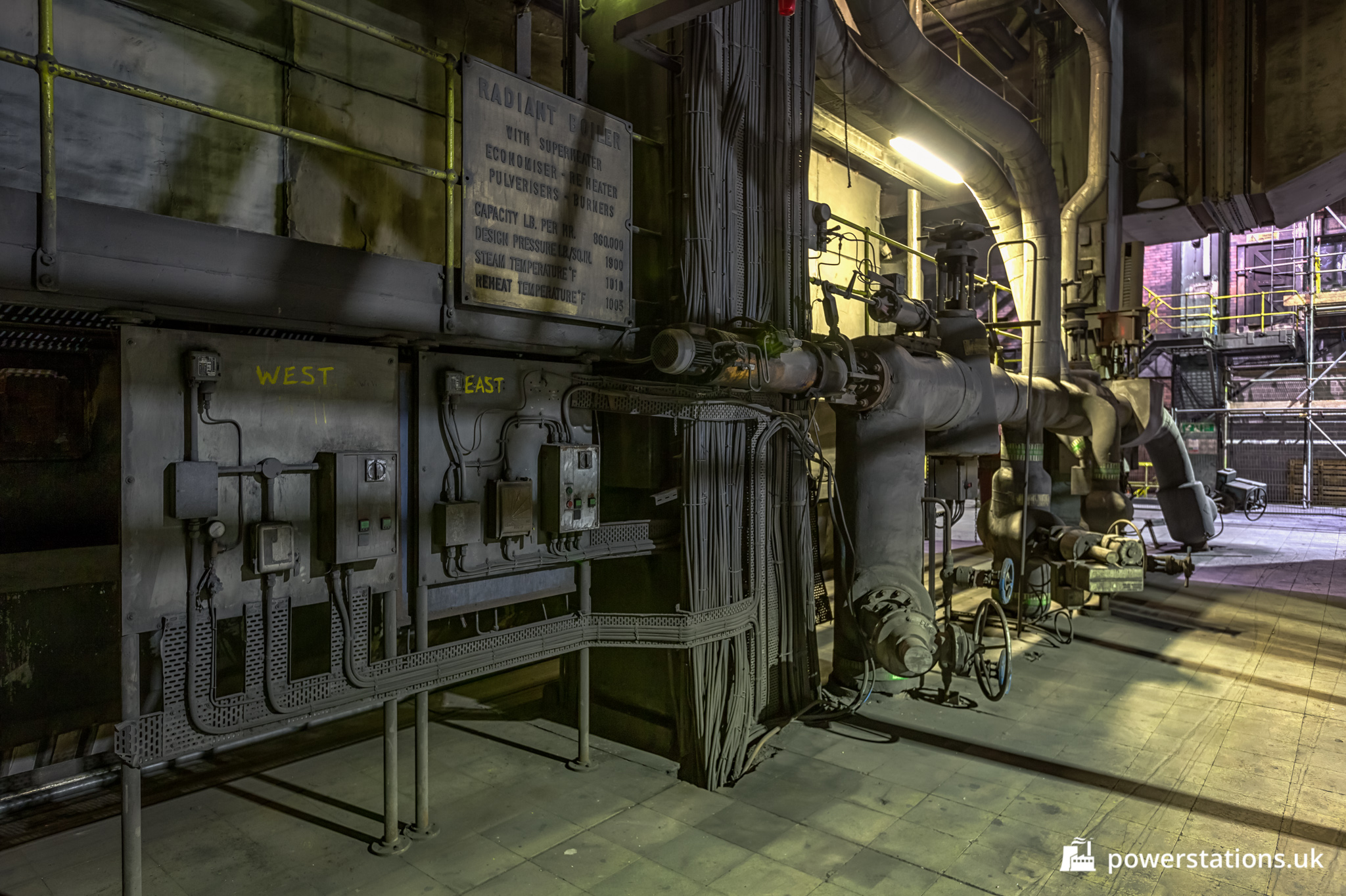 Uskmouth B Power Station – Boiler House and Fuel Mills – Power ...