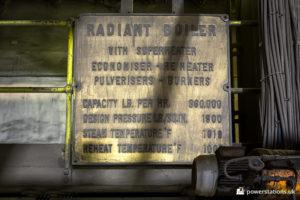 Boiler specification plate