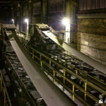 Conveyors above the bunkers