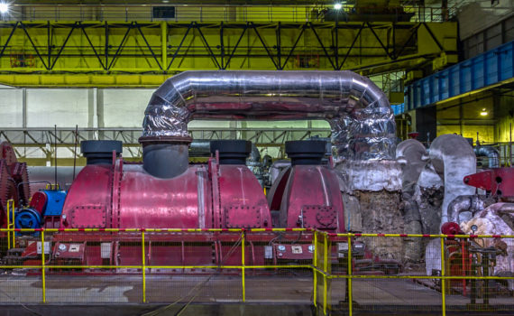 Unit 14 generator and turbine set