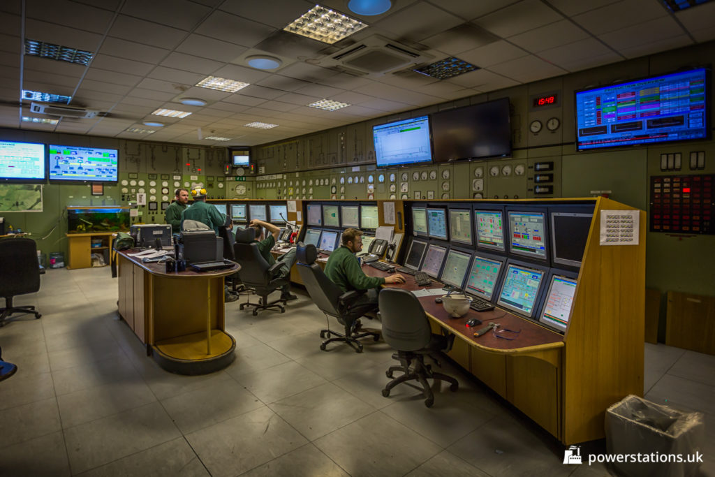 The main control room at Wilton has been modernised. Some older panels remain in place