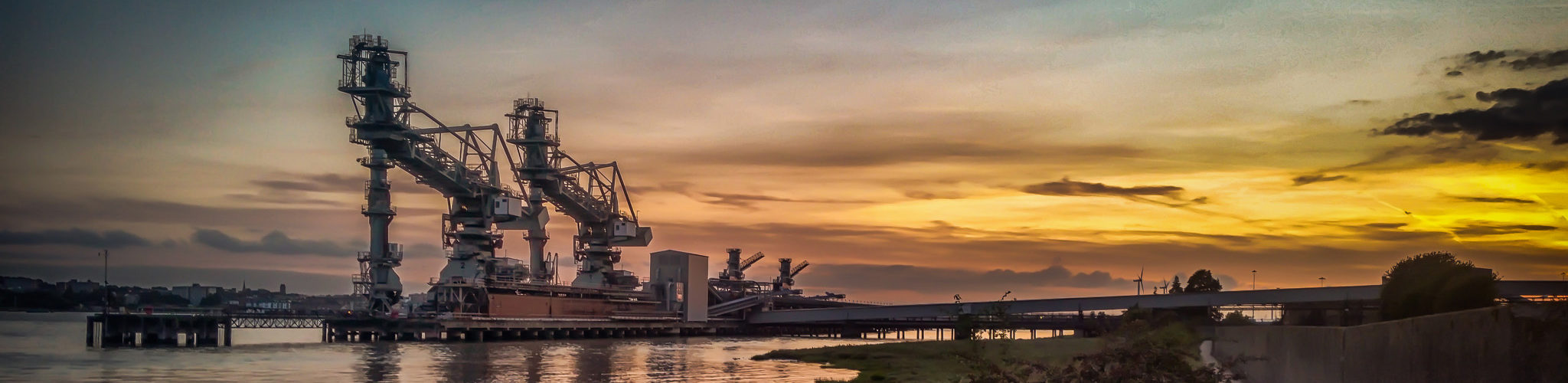 Tilbury Power Station Jetty at sunset