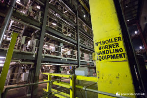 No. 1 boiler burner handling equipment