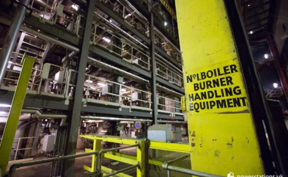 No. 1 boiler burner handling equipment