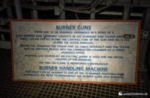 Description of burner guns and burner handling machine