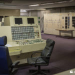 Unit 1 alarm panel with 400Kv board in the background