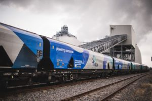 Biomass train at Drax Power Station [Image courtesy Drax Power]
