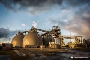 Biomass storage domes