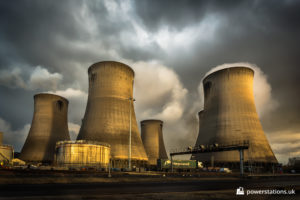 South cooling tower complex