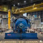 End-on view of unit 6 turbine generator