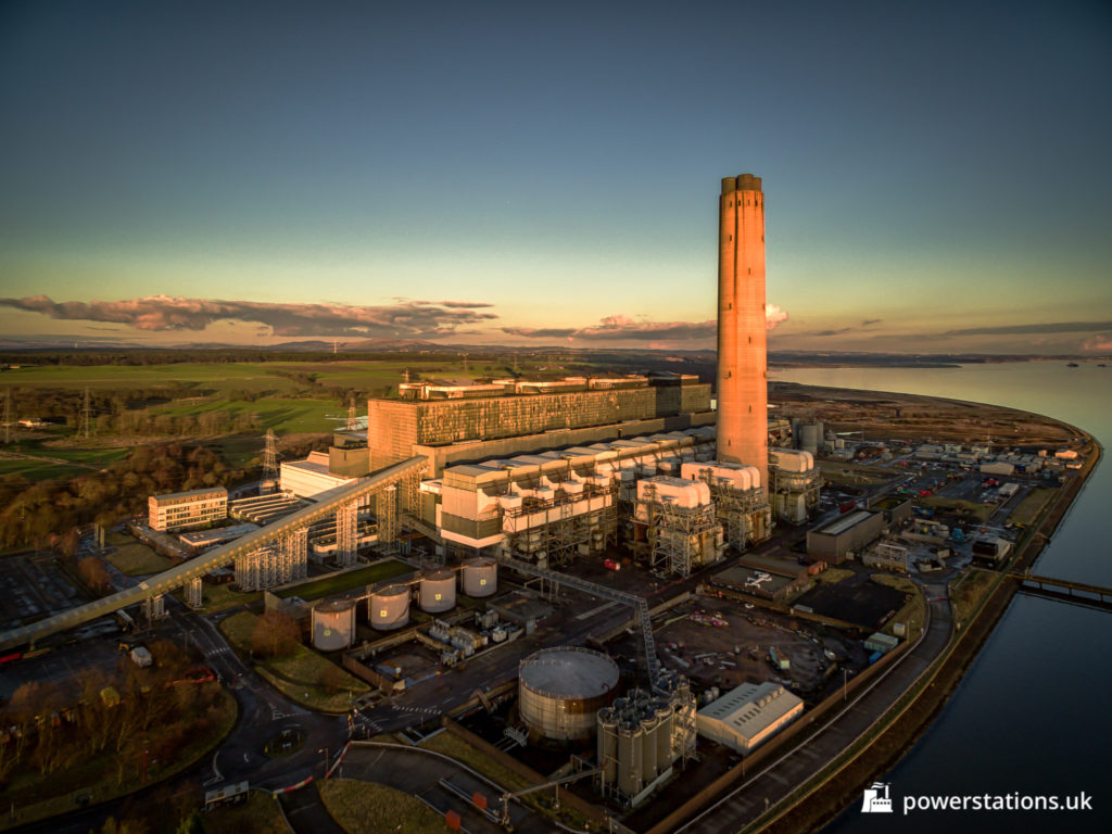 Aerial view of Longannet power station