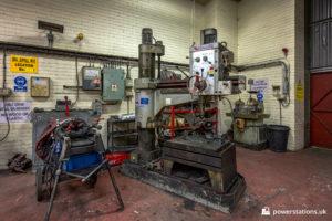 Drillpress in the workshop