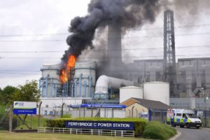 Fire at Ferrybridge C Power Station