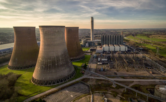 Rugeley B cooling towers and power station