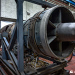 One of the Olympus jet engines that powered the gas turbines