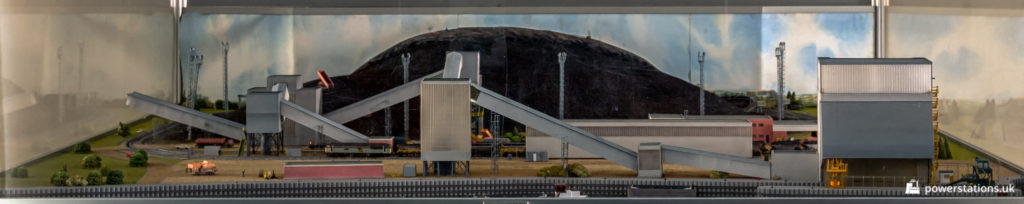 A model of the Ferrybridge Coal Plant, as seen on display in the admin reception