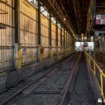 Interior of the rail unloader