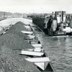 "Historic view of ""Tom Puddings"" delivering coal to Ferrybridge"
