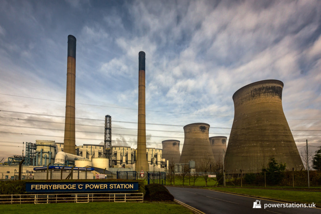 Ferrybridge 'C' Power Station front entrance