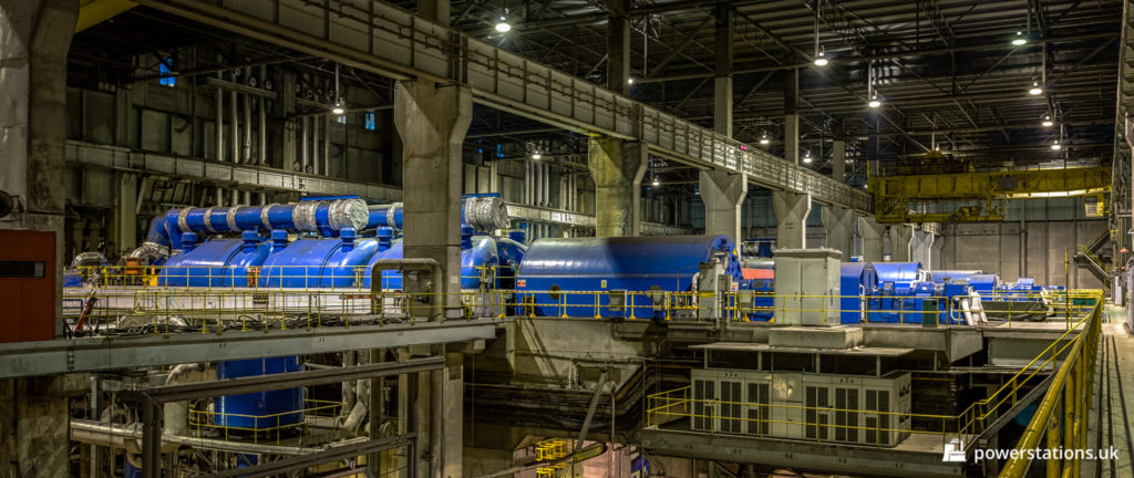The turbine hall of Ferrybridge C Power Station