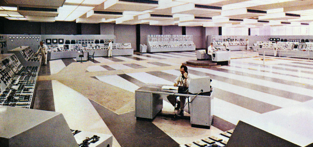 The Central Control Room at Eggborough Power Station, 1970