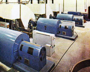 The gas turbines, pictured in 1970