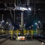 Inside the rail unloading facility