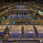Turbine hall with Unit 1 in the foreground