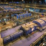 The turbine hall of Eggborough Power Station