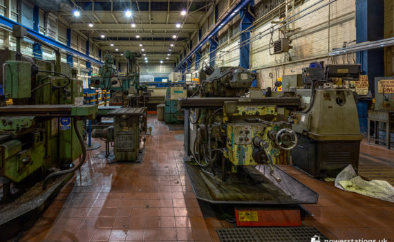 Metalworking machinery in the main workshop